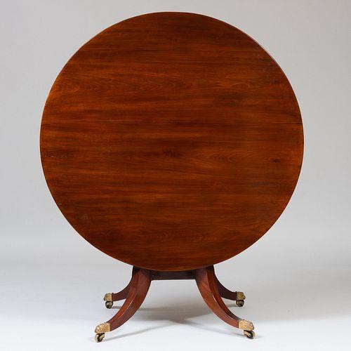 Regency Mahogany Tilt-Top Center Table