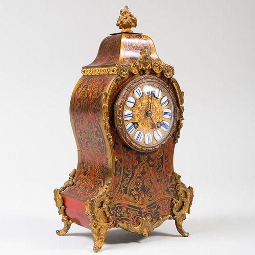 Howell James & Co. Gilt-Metal-Mounted Faux Tortoiseshell Bracket Clock