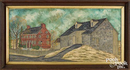 Dolores Hackenberger oil on canvas farmscene