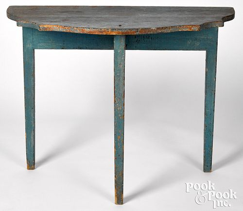 Painted pine pier table, 19th c.