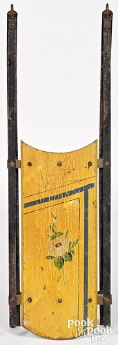 Small Victorian painted child's sled