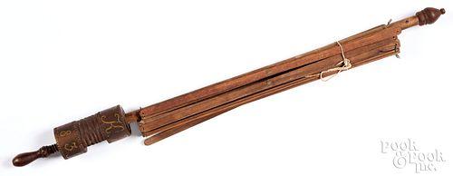 Mahogany swift, dated 1839