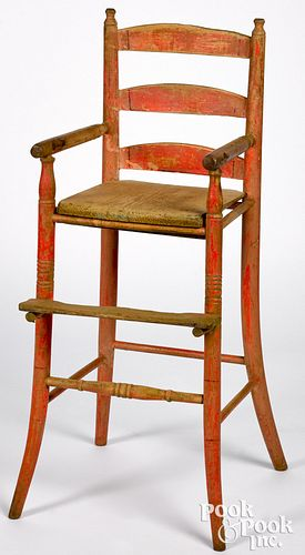 Painted highchair, 19th c.