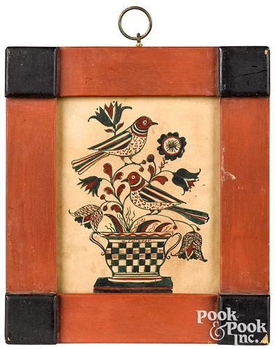 David Y. Ellinger watercolor fraktur