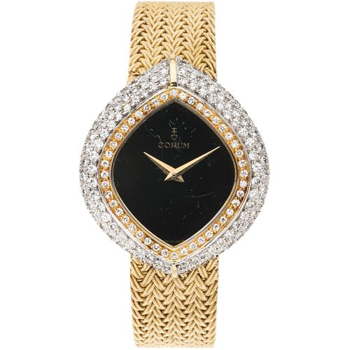 CORUM CORUM LADY WATCH WITH DIAMONDS IN 18K YELLOW AND WHITE GOLD REF. 1528.46  Movement: manual. Weight: 55.5 g