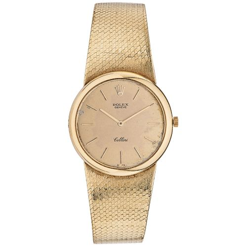 ROLEX CELLINI WATCH IN 14K YELLOW GOLD Movement: manual. Weight: 63.4 g