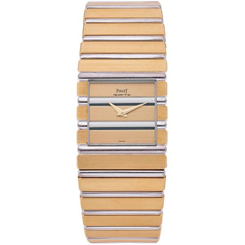 PIAGET POLO WATCH IN 18K WHITE AND YELLOW GOLD REF. 7131 C 701  Movement: quartz. Weight: 142.4 g