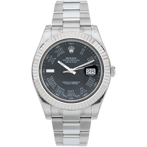 ROLEX OYSTER PERPETUAL DATEJUST WATCH IN STEEL AND 18K WHITE GOLD REF. 116334, CA. 2011 - 2015  Movement: automatic
