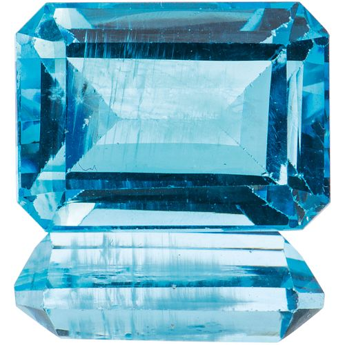 UNASSEMBLED TOPAZ WITH GIA CERTIFICATE Octagonal cut ~22.73 ct Certificate number: 6167906143