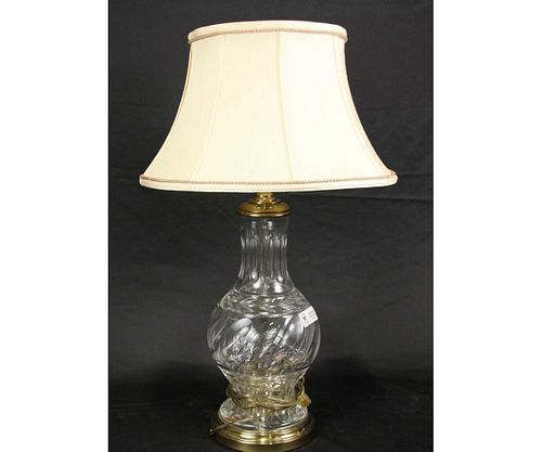 WATERFORD STYLE CUT WRYSTAL LAMP