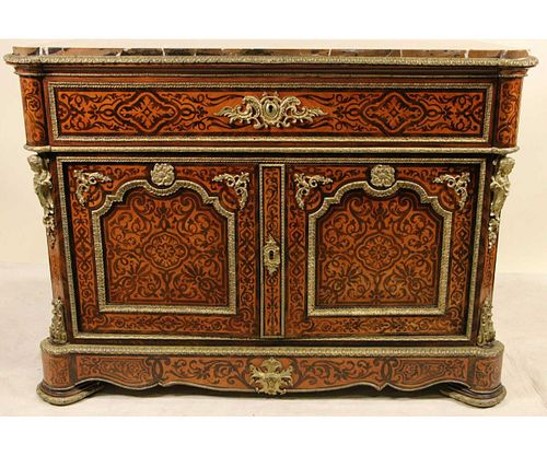 VERY RARE FRENCH IN THE MANNER OF BOULE CABINET
