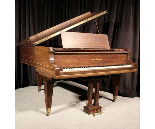 MASON & HAMLIN WALNUT MODEL A BABY GRAND PIANO