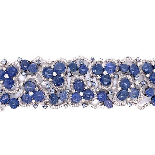 18k Sapphire Diamond Bracelet