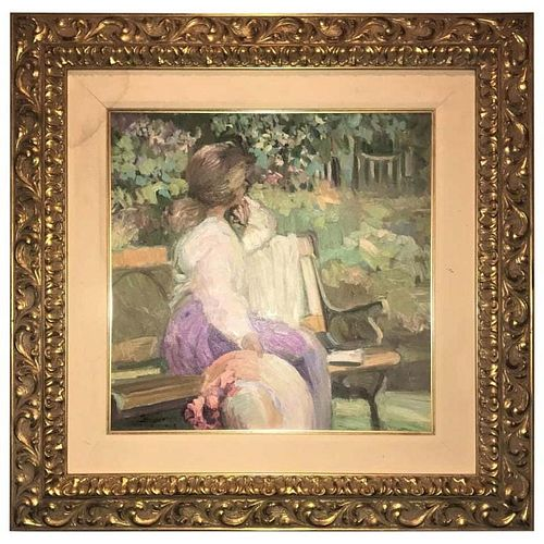 Water Color in a Fine Gilt Frame Signed