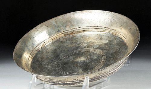 Stunning Ancient Greek Silver Libation Dish