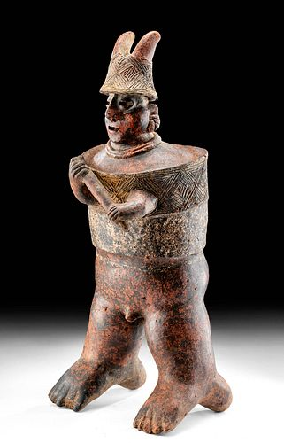 Tall Nayarit San Sebastian Armored Warrior Figure