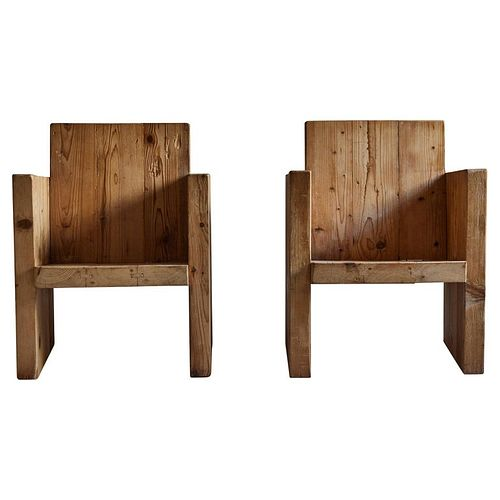 Pair of Rustic Arm Chairs