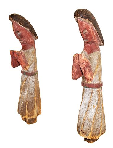 African Carved Twin Figures