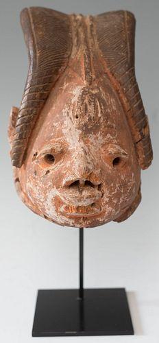 Antique Carved Wood Mask