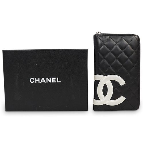 Chanel Cambon Leather Zip Wallet