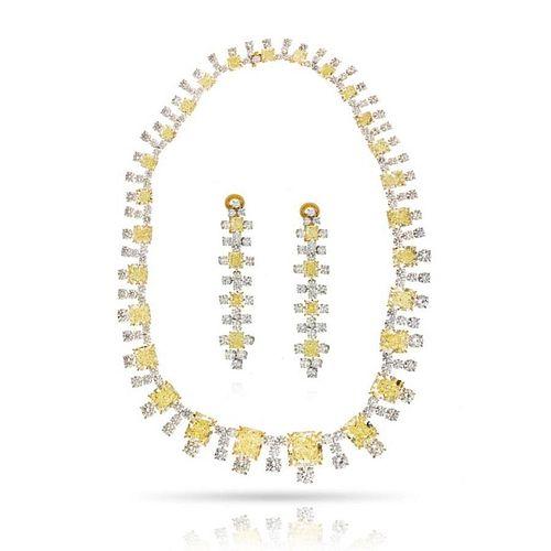 PLATINUM & 18K YELLOW GOLD 94.65 CARATS OF FANCY