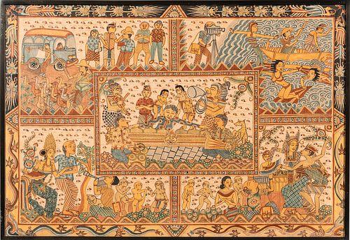 Contemporary Malaysian Batik Tapestry