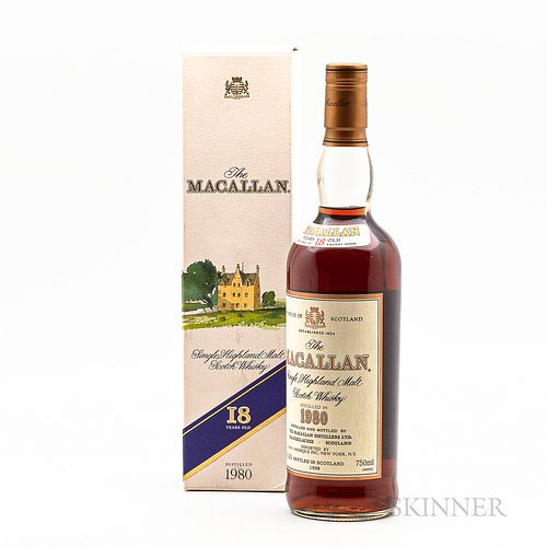 Macallan 18 Years Old 1980, 1 750ml bottle (oc)