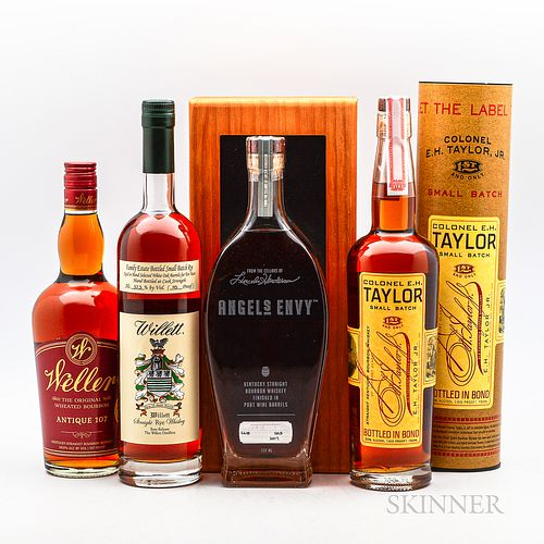 Mixed Bourbon, 4 750ml bottles (1 owc, 1 ot)