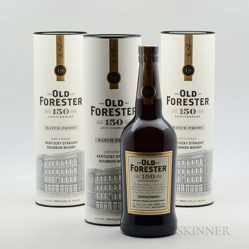 Old Forester 150th Anniversary, 3 750ml bottles