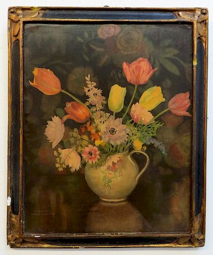 Painting Signed Marjory Whittington Dated 1799