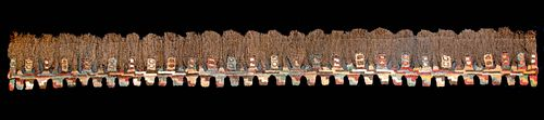 Proto Nazca Textile Trophy Head Fringe