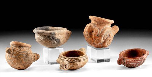 Rare Marajao Island Pottery Drug Implements (5)
