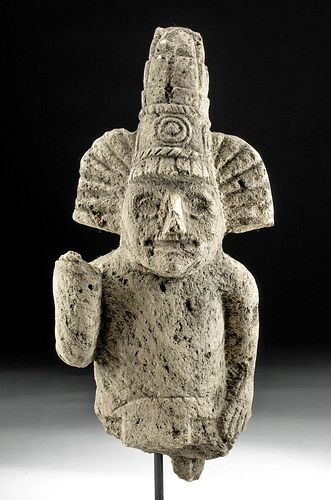 Toltec Stone Bust of a Lord - Ex Stendahl