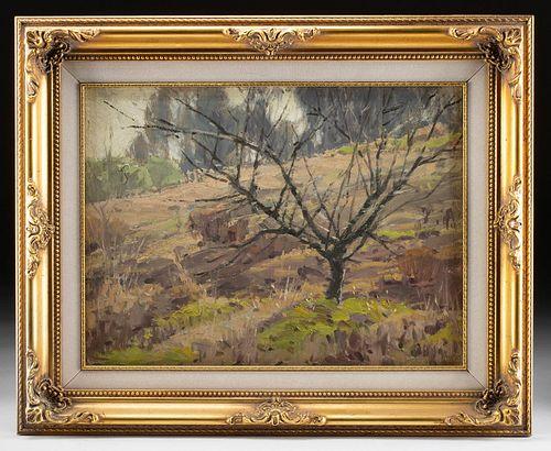 "Framed Sam Harris Painting, ""Neglected"" ca. 1950"