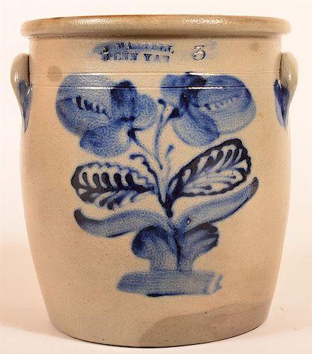 J. Mantell, PENN YAN Stoneware Crock.