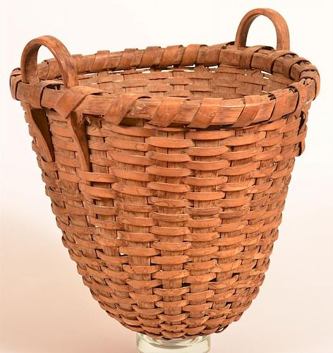 Woven Oak Splint Field Basket.