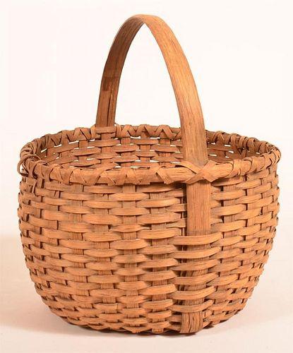 Woven Oak Splint Market or Field Basket.