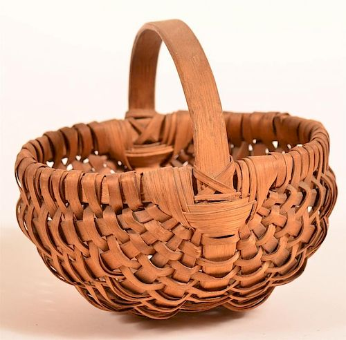 Woven Splint Egg or Berry Basket.