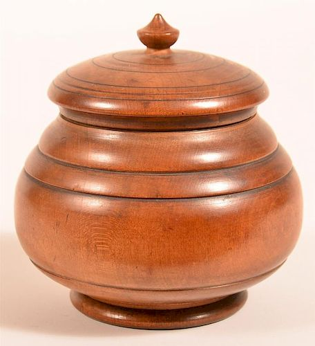 19th Century Peasware Covered Canister.