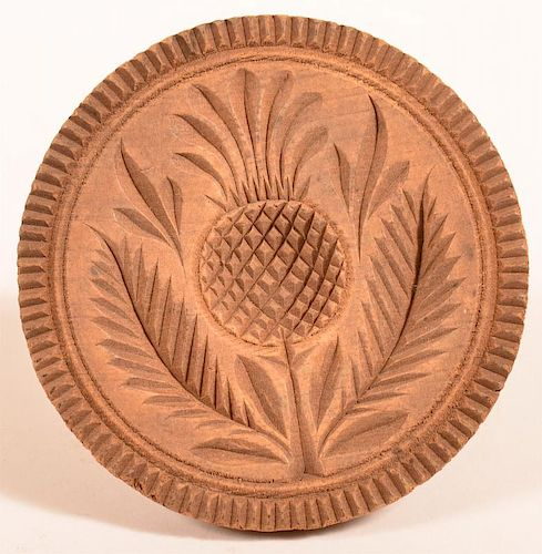 19th Century Pineapple Pattern Butter Print.
