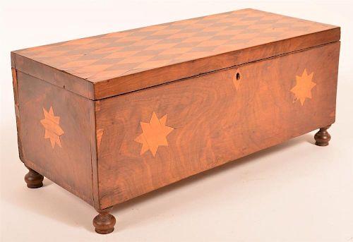Federal Period Mahogany Inlaid Lock Box.