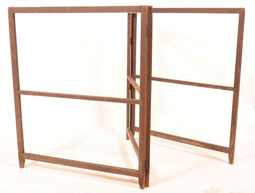 Primitive Softwood Three Part Drying Rack