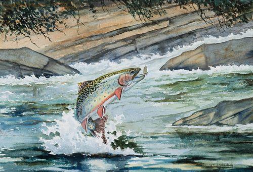 William J. Schaldach (1896–1982) — Brook Trout; Brown Trout