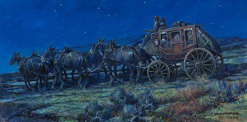 Nick Eggenhofer (1897–1985) — Night Wagon (1976)
