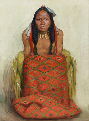 Eanger Irving Couse (1866–1936) — The New Rug (1917)