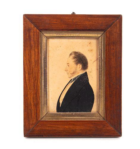 1868 Silhouette Watercolor Painting Robert Birkby