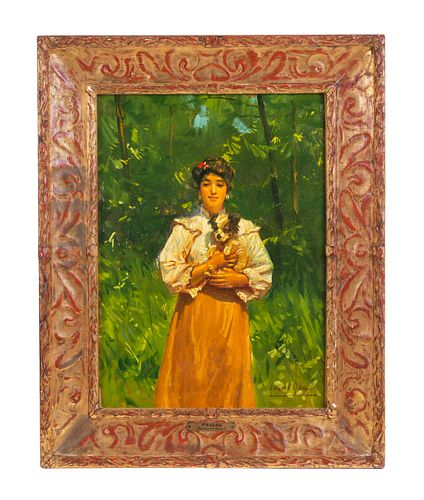 Gilbert Gaul Impressionist Painting Oil on Canvas