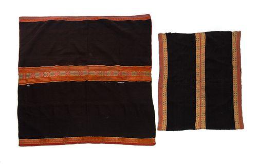 2 Antique Andean Indian Manta