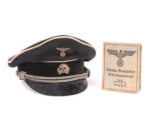 WWII German SS Allgemeine Deaths Head Hat