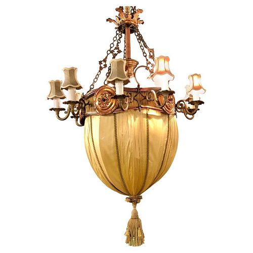 Light Fixture in Copper, Brass and Iron